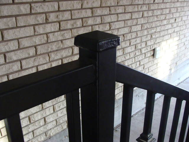 Custom railing pillar crowns.